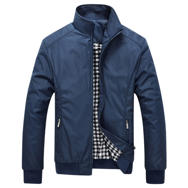 2017 Men Fashion Casual Loose Business Jackets Solid Fashion Coats Male Casual Slim Stand Collar Bomber Jacket Man Plus Size 3XL