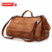 BJYL Ретро crazy horse кожа Для мужчин сумка дорожная сумка деловой человек большая емкость путешествия Для мужчин плеча сумки