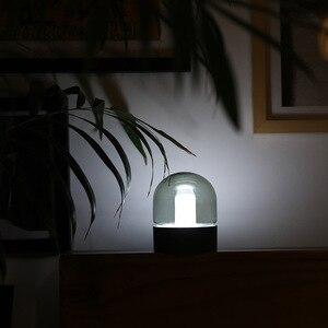 Image 3 - Vintage Glass Night Light USB Charging Retro Nostalgic Desktop Bulb Atmosphere Breathing Dimmable Nightstand Lamp Bedroom Decro