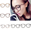 Unisex Retro Round Nerd Glasses Curving Earstems Semi Metal Frame Spectacles Oculos J2