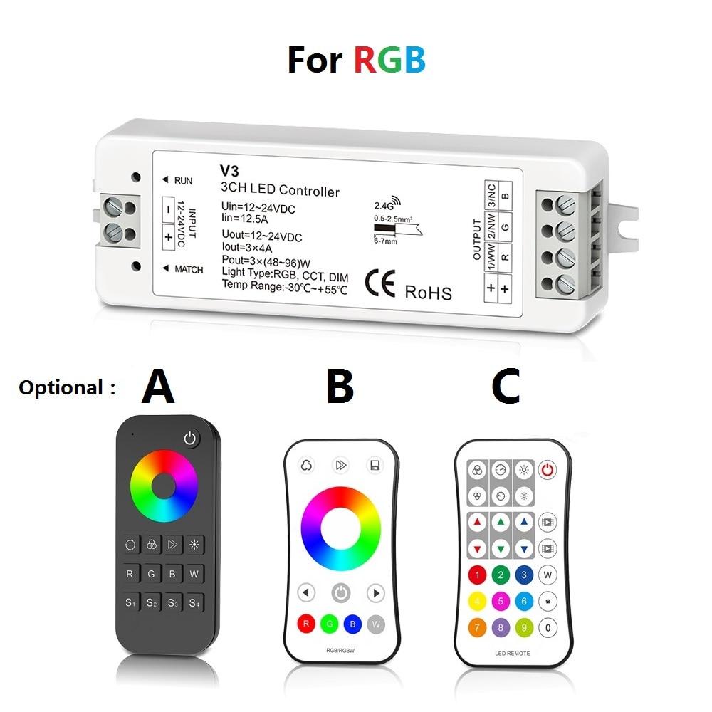 MJJC RGB RGBW LED շերտի վերահսկիչ RF 12v 24v 2.4G - Լուսավորության պարագաներ - Լուսանկար 2