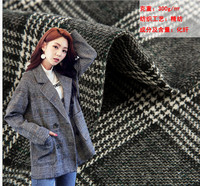 400g woollen winter houndstooth coat woolen fabric winter modern ladies coat woolen plaid fabric