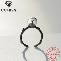 CC Four-Leaf Clover Rings For Women Original Design Anel 925 Sterling Silver Jewelry Personality Unique Ring Drop Shipping CC751