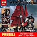 Nueva LEPIN 16009 1151 unids Reina Anne revenge Piratas del Caribe Building Blocks Set Mini bloques Compatibles con Legoe 4195