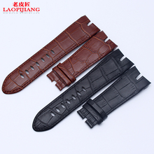 laopijiang P eter R ojdu c rocodile Mens Leather Watchband 26MM Black Brown
