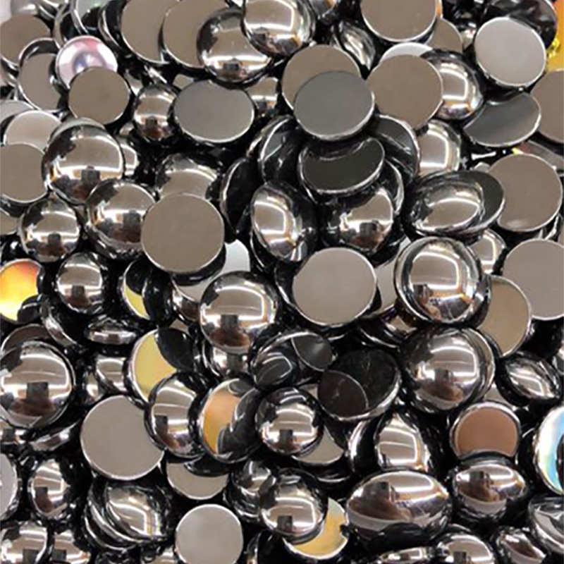 50 stück Natürliche Hämatit Steine Cabochon 8 10mm Runde Kein Loch für Herstellung Von Schmuck