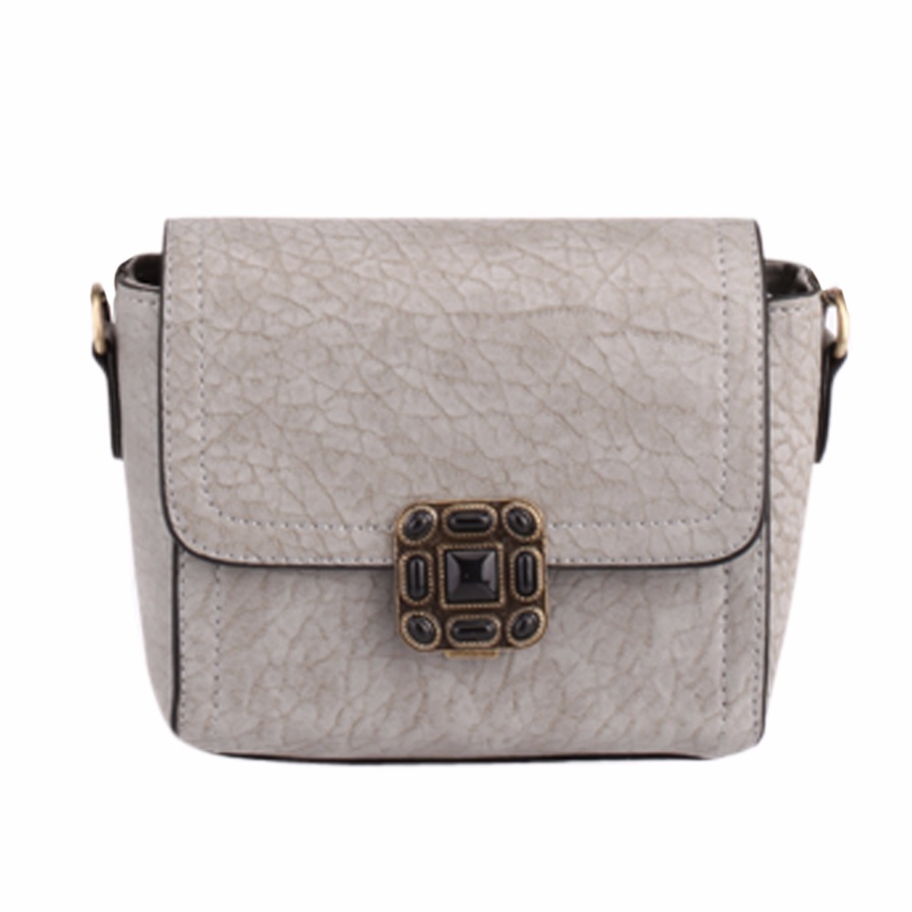 Women Fashion Candy Color Shoulder Bag Ladies Rivet Leather Crossbody Shopping Bag Female Small Handbag