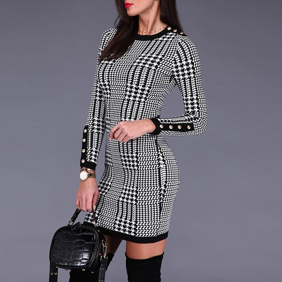Adyce 2019 New Autumn Women Bandage Dress Elegant Celebrity Evening Party Dress Sexy Long Sleeve Button