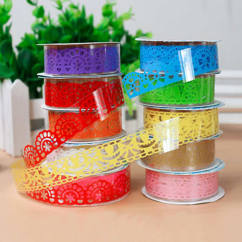 1pcs lace tape decoration roll candy colors diy washi - Decoration masking tape ...