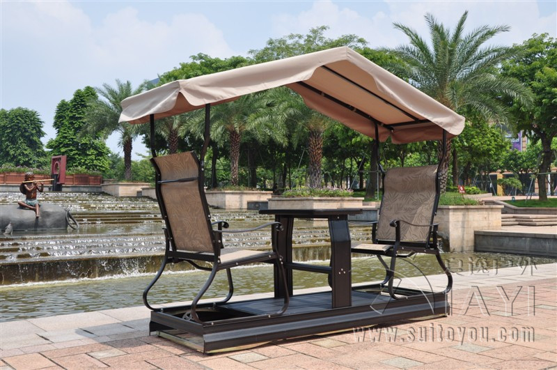 Modern Outdoor 2 Seat Swing Chair Right Left Movable For Adults Outdoor  Furniture Hammock With Canopy
