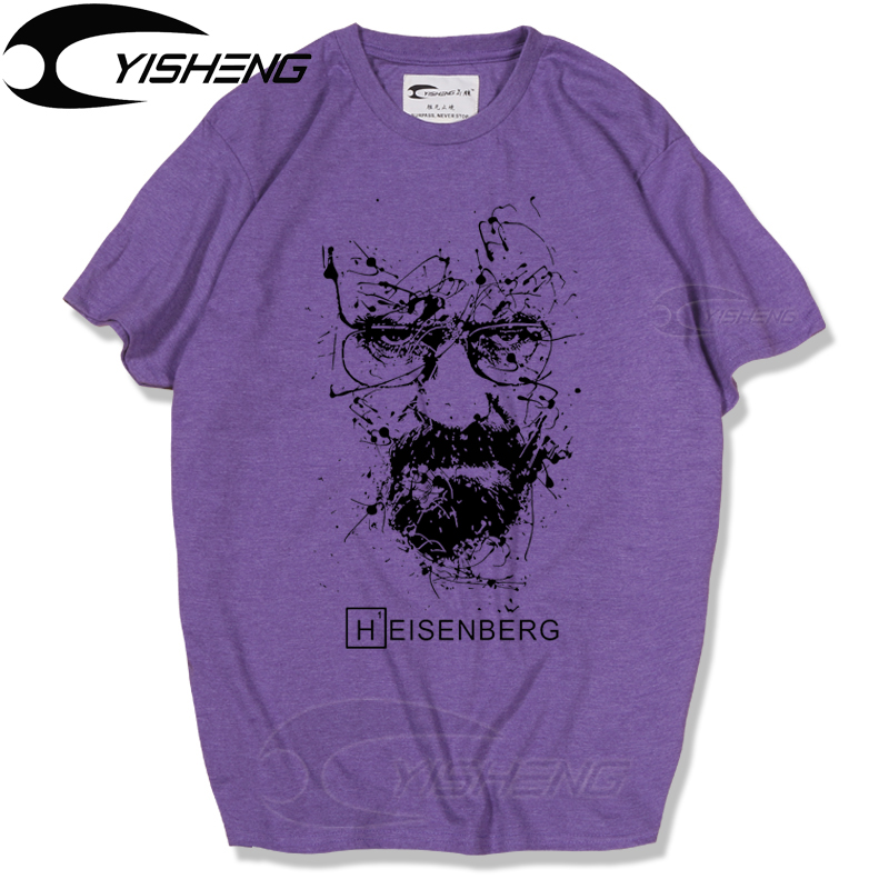 Breaking bad t shirt men heisenberg top quality cotton for Best quality shirts to print on