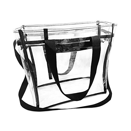 Custom Transparent Clear PVC Make Up Tote Bag With Double Handles