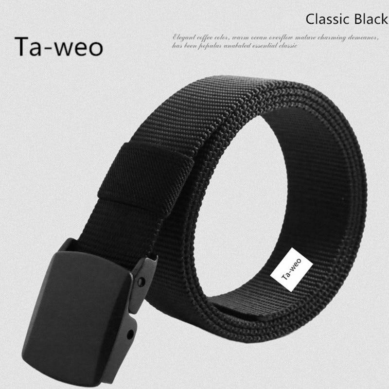 Ta-weo automatické přezka nylonový pás, muž armáda taktický pás, mužský vojenský plátěný pas, Cummerbunds popruh Dobrá kvalita