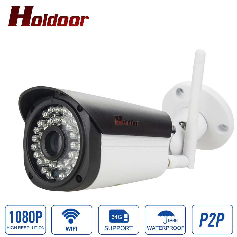 IP Camera Wifi 1080p HD Outdoor CCTV Security System Surveillance Waterproof IP66 Wireless Home Mini Cam Support Micro SD Card 3mp ip wifi camera ds 2cd2432f iw home cctv camera wireless hd surveillance security camera 1080p mini wifi cameras ip cam