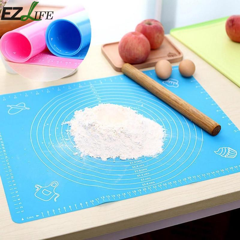 Non Stick Silicone Baking Mats Cake Dough Rolling Fondant Kneading kitchen Baking Mat With Scale Baking Mat for Dropshipping in Baking Pastry Tools from Home Garden