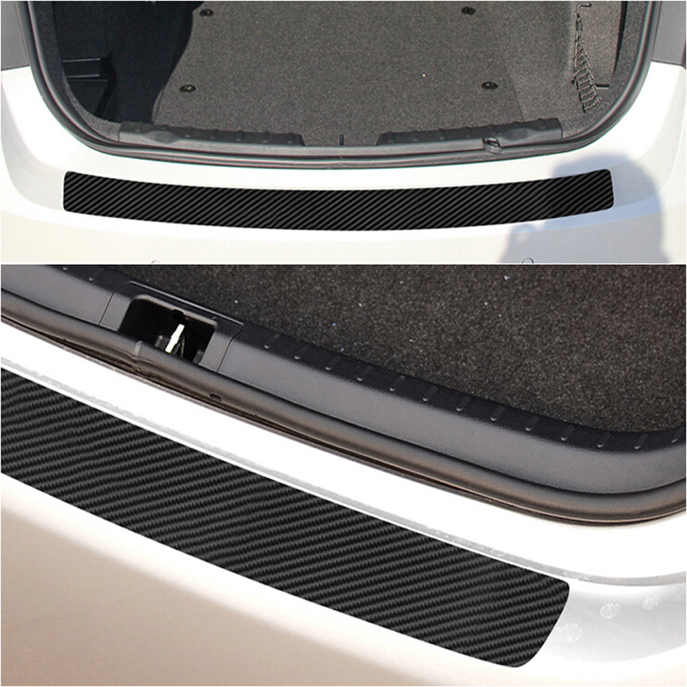 1pc PVC Black Sticker With Scraper Carbon Fiber 1000* 90mm Accessories Parts High Quality Suitable For Most Cars