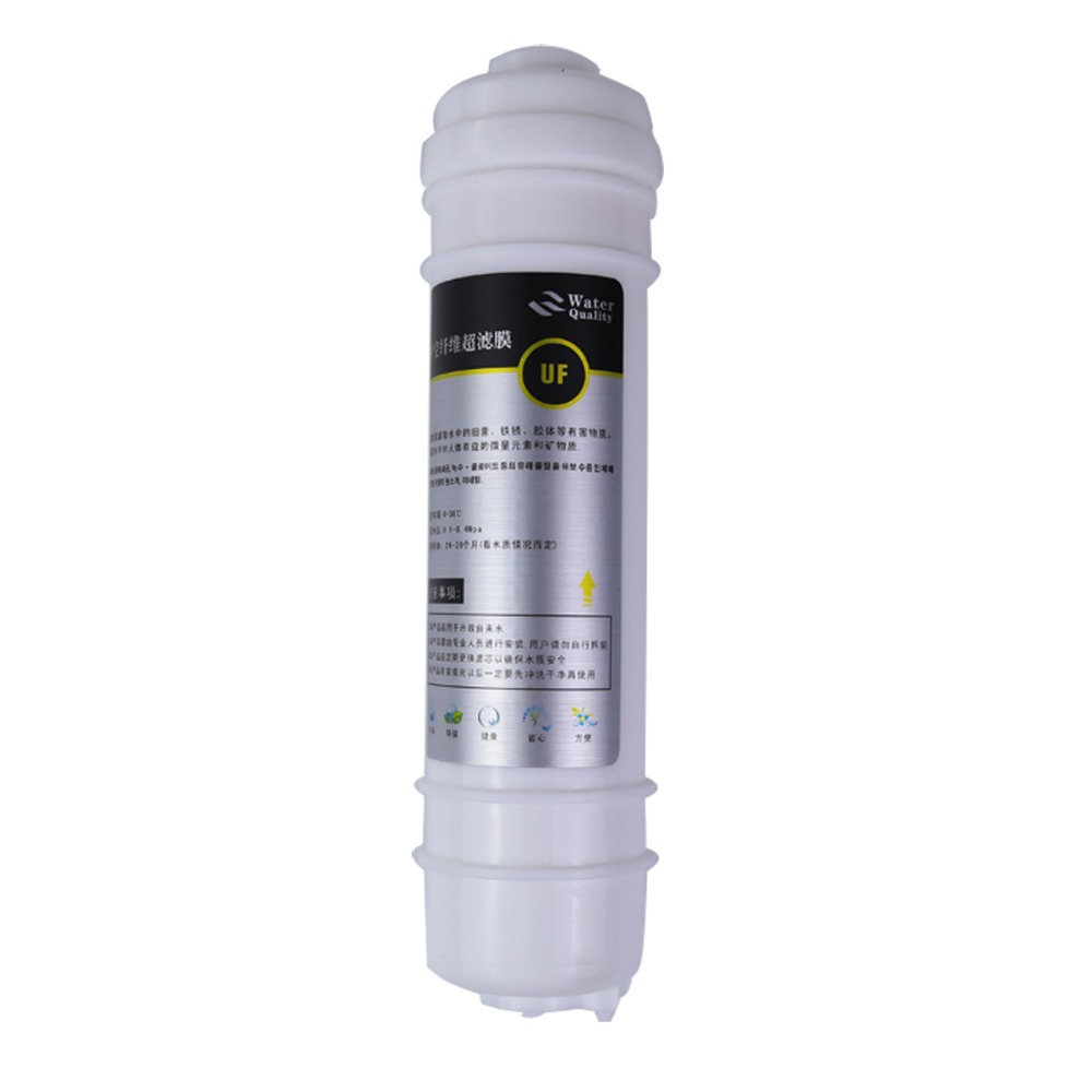10 inch integrated hollow fiber ultrafiltration membrane water filter Quick Change UF filter element integrated filter core plug in type uf hollow fiber filter 10 inch ultrafiltration membrane filter for water purifier household pre filtration