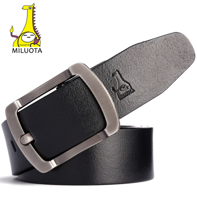 2016 Mens Belts Luxury High Quality Cow Genuine Leather Belts for Men Brand Pin Buckle Strap Male MU069