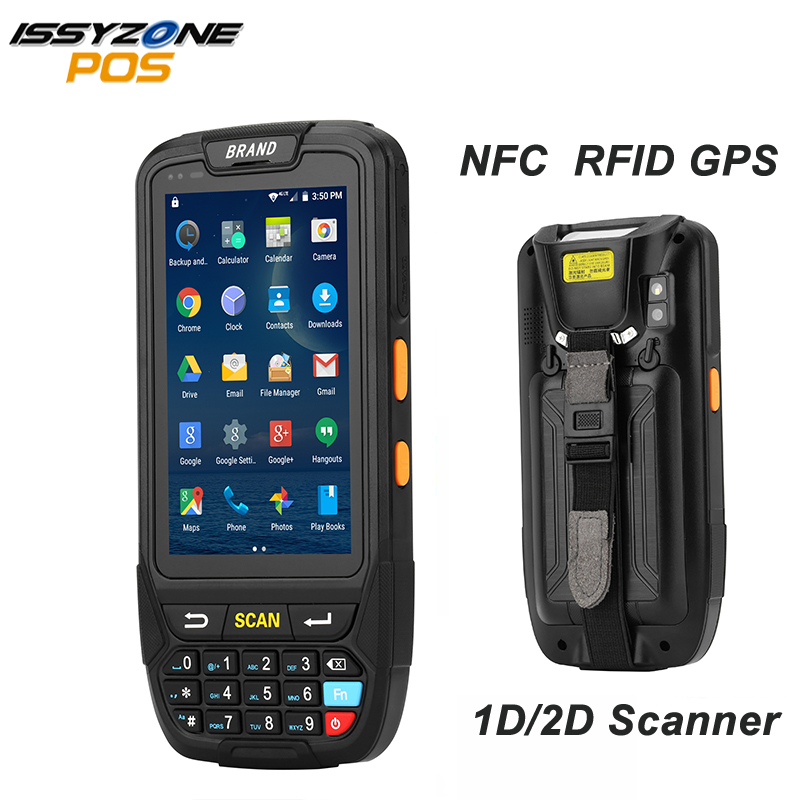 ISSYZONEPOS 4G 2D PDA Handheld Android 7.0 Tela De Toque Do Terminal POS Barcode Scanner Leitor de código de Barras Sem Fio Bluetooth Wi-fi GPS