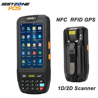ISSYZONEPOS 4G Handheld PDA Android 7.0 POS Terminal Touch Screen 2D Barcode Scanner Wireless Wifi Bluetooth GPS Barcode Reader