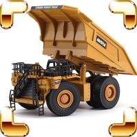 Christmas Gift 1/40 Metal Model Mining Truck Car Alloy Vehicle Die cast Static Models Scale Toys Cars Dump Trucks Education Tool
