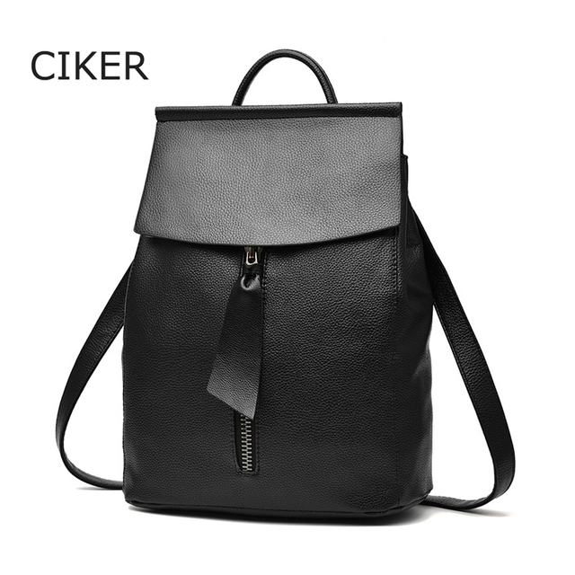 CIKER Известные бренды новый 2017 женщины Рюкзак Mochila женщин дорожные сумки школьные сумки кожаные рюкзаки высокое качество рюкзак твердые