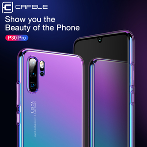 Image 2 - CAFELE Case For huawei p30 p20 pro cases luxury Aurora Gradient Color Transparent Cover For huawei p30 p20 light Hard PC Case