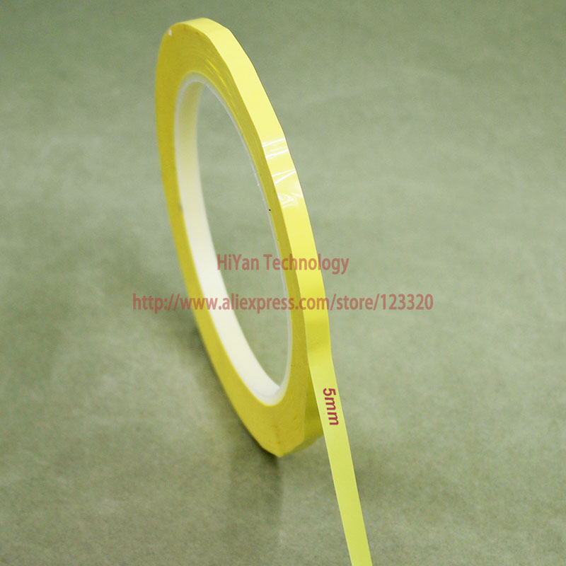 цена на 2rolls/Lot 5MM Width 66 Meters Length PET Film Yellow Mylar Tape Adhesive Insulation Anti-Flame For Transformer Capacitor Motors