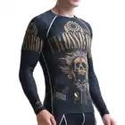 Мужские компрессионные рубашки LIFE ON TRACK с длинным рукавом для бега, гибкие рубашки для тренировок, многофункциональные футболки MMA для занят... - 4