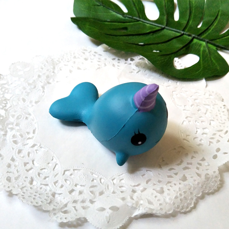 Squishy Toy Unicorn Whale Antistress Toy Soft Slow Rising Jumbo Whale Stress Relief Funny Novelty Gag Squeeze Toy For Kids