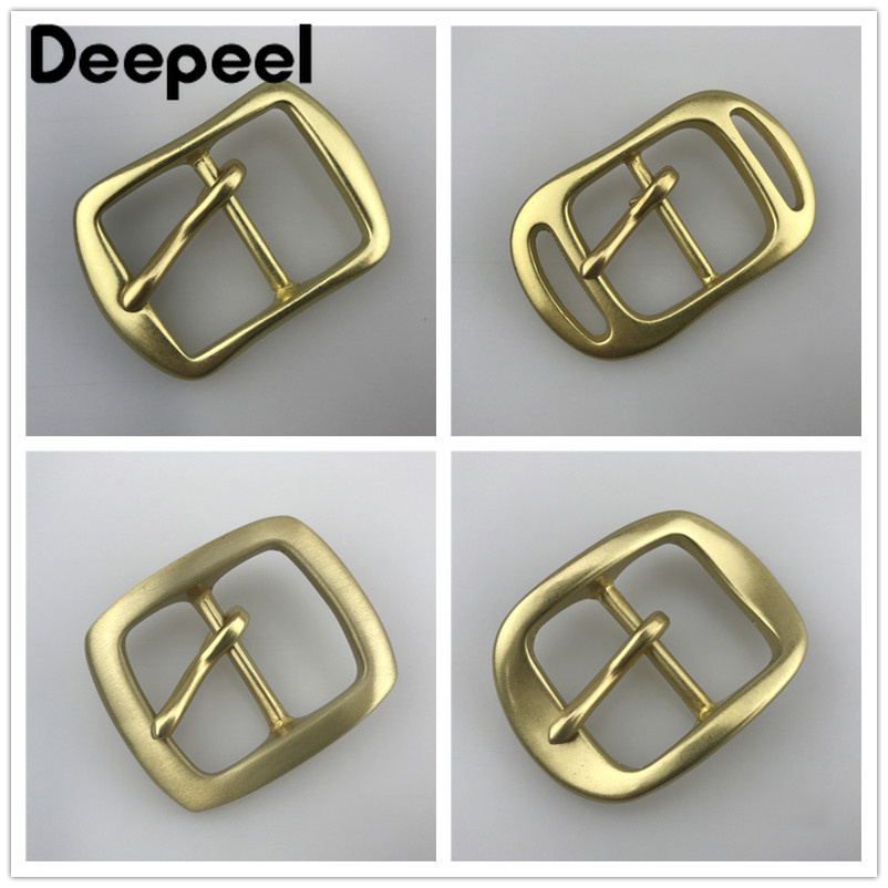 Deepeel Solid Brass Belt Buckle For Men Metal Pin Buckles For Belt 34-35mm Belt Head Waistband Buckles DIY Leather Accessories