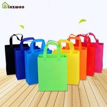 10 pcs DIY เด็กวันเกิด PARTY โปรดปรานกระเป๋าของขวัญกับจับรักษากระเป๋าผ้าสีช้อปปิ้งกระเป๋าใช้ของขวัญกระเป๋า
