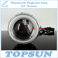 Motorcycle Parts 2 0 HID Bixenon Motorcycle LED Angel Devil Eye Projector Lens For Suzuki