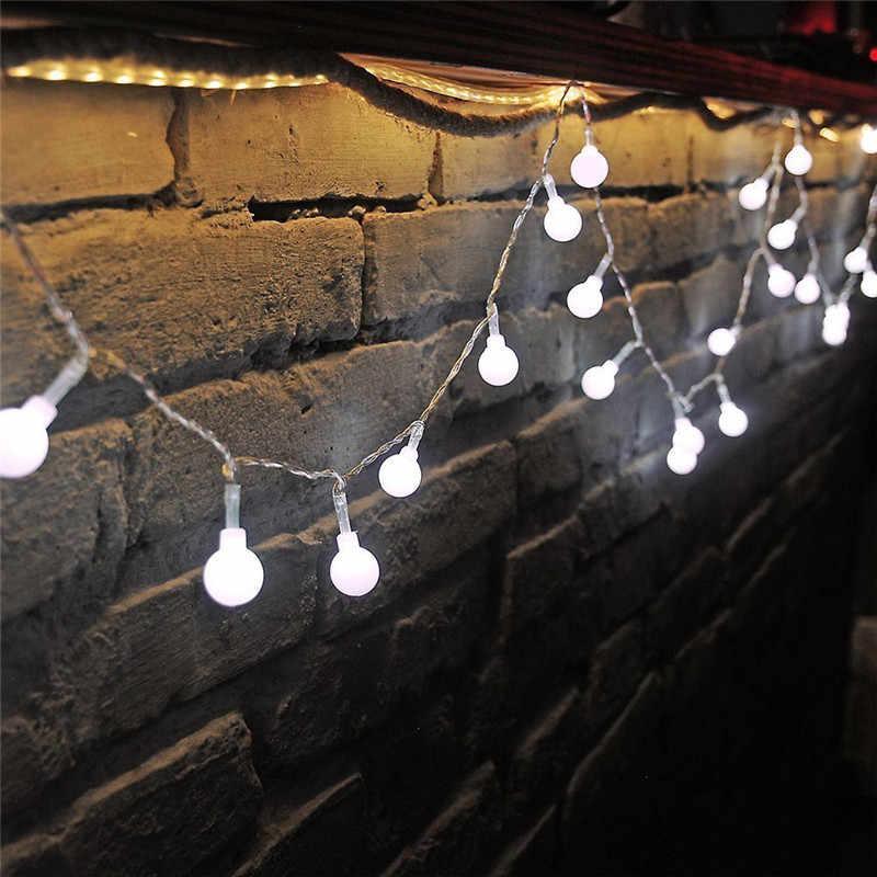 Новинка 1,5 м 3 м 6 м сказочная гирлянда светодиодный шар гирлянды водонепроницаемые для рождественской елки Свадебные украшения для дома и дома на батарейках