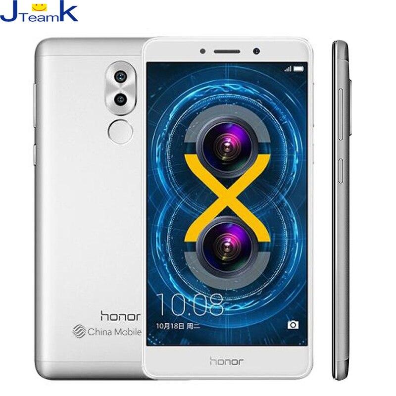 Цена за Huawei honor 6x млрд tl01 dual задняя камера 12mp 3 ГБ оперативной памяти 32 ГБ Rom 4 Г FDD LTE телефон Окта ядро 5.5 дюймов 1920 * 1080pix отпечатков пальцев