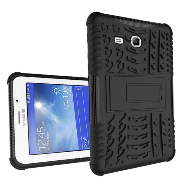 official photos 2bd8d aa003 US $8.73 26% OFF|Silicone Hybrid Rugged Heavy Duty stand Cover Case For  Samsung Galaxy Tab 3 Lite 7.0 T110 T111 Tablet Accessories S4C14D-in  Tablets & ...
