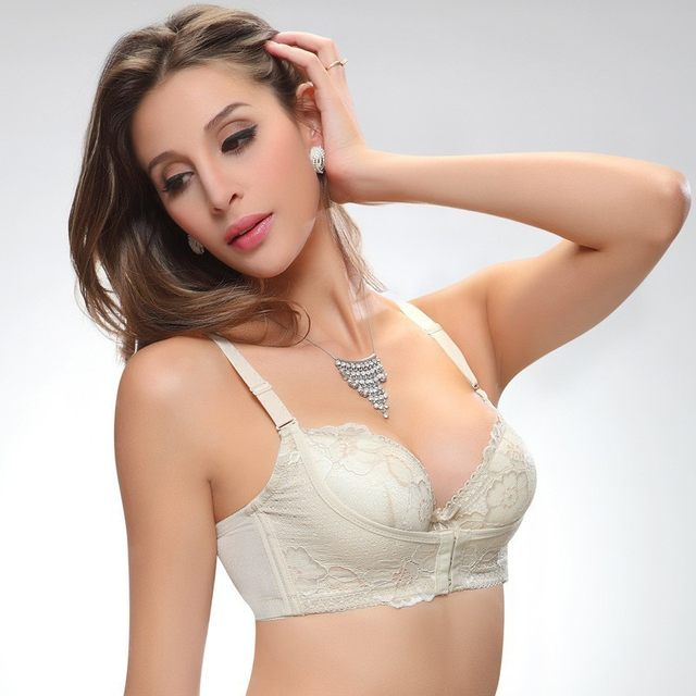 6616ef0eea3 Online Shop OUDOMILAI 2018 Super Push Up Bra Small Chest Thickening ...