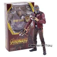 SHF yıldız efendisi Avengers Infinity savaş Guardians Galaxy PVC Action Figure koleksiyon Model oyuncak