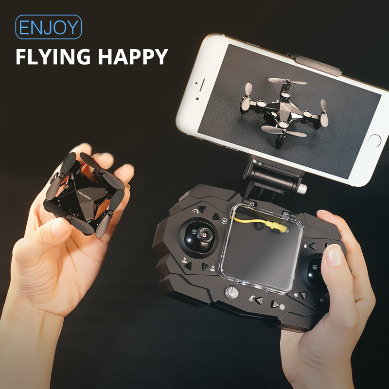 Mini vehículo aéreo no tripulado Quadrocopter plegable Mini Drone Cámara 720P de alto modo pequeño helicóptero niño juguetes VS S9HW H8 H48