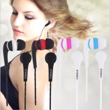 2016 New 1.2m Colorful 3.5mm In-ear Stereo Earbuds Earphone Headset Without MIC For iphone for Smart Phones MP3 MP4 Wholesale