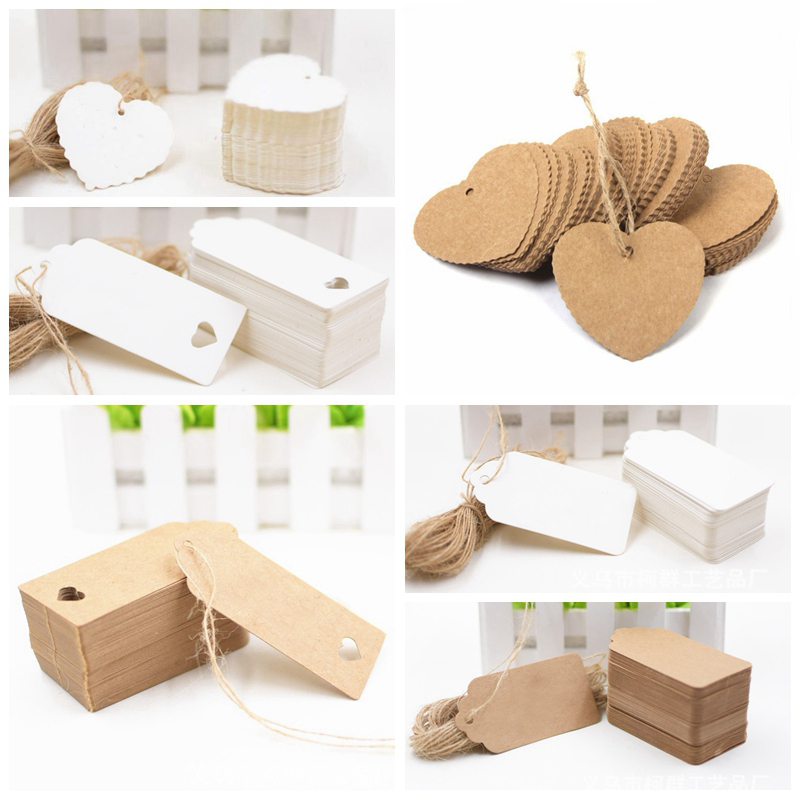 New Blank Kraft Paper Gift Retro Tags DIY Food Label