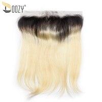 Doozy Ombre 613 Russische Blonde Gerade Remy Menschliches Haar Verschluss 13x4 Ohr zu Ohr Brasilianische Spitze Frontal