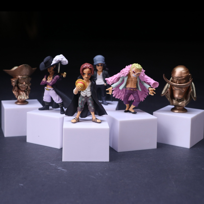 Anime <font><b>One</b></font> <font><b>Piece</b></font> Roger Kuzan <font><b>Shanks</b></font> Mihawk Donquixote Doflamingo PVC <font><b>Action</b></font> <font><b>Figures</b></font> Collection <font><b>Model</b></font> <font><b>Kids</b></font> Toys Doll 10cm 6pcs/set