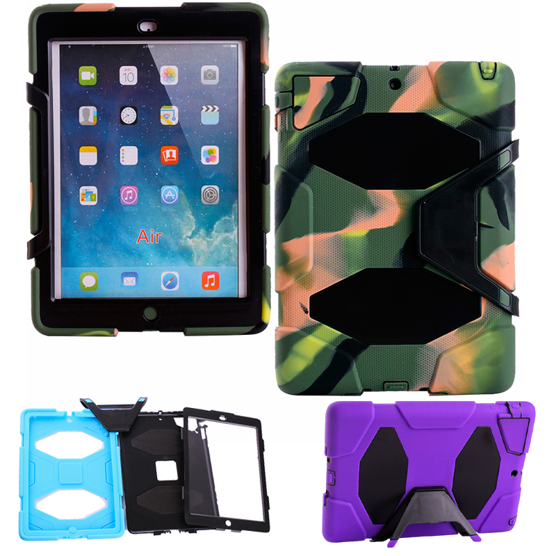 HOT high quality fashion Children child Case Cover For Apple iPad air1 / 5 Shock Proof case Silicone Cover Case for ipad 5 1PC