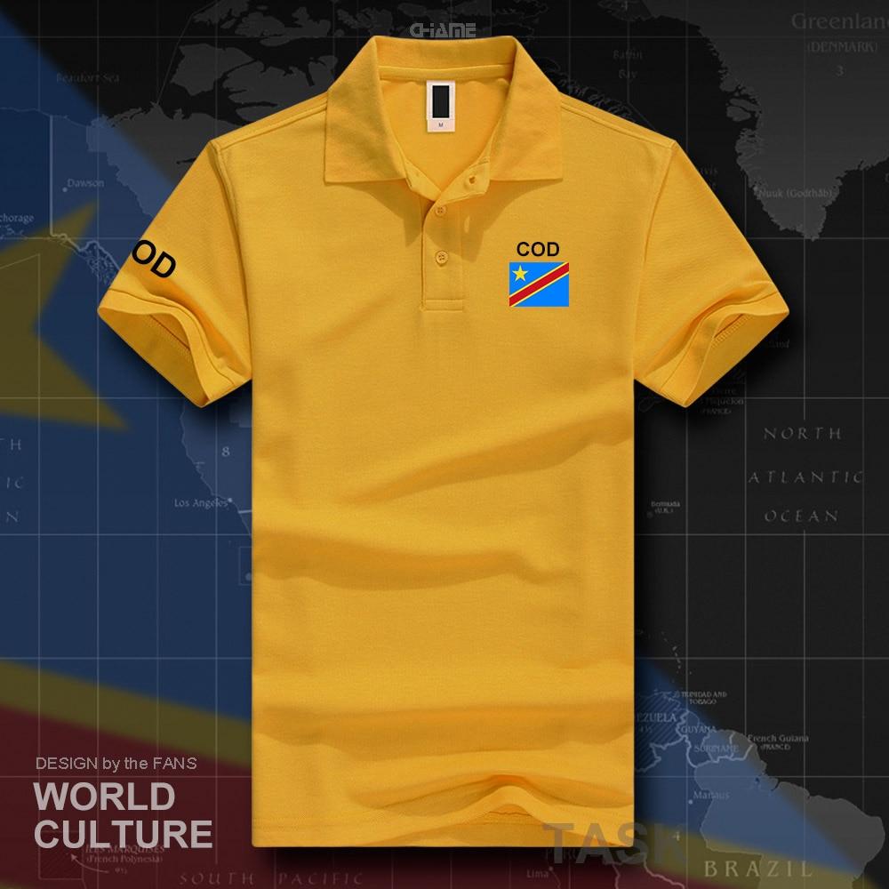 DR Congo polo shirts men short sleeve white brands printed for country 2017 cotton nation COD DRC DROC Congo-Kinsha Congolese