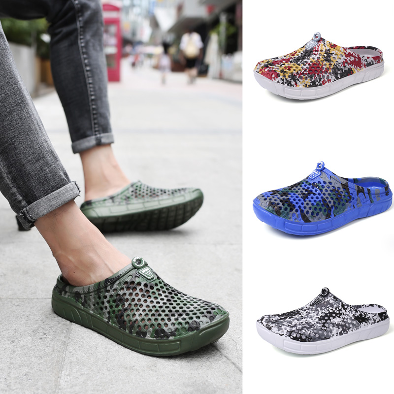 Outdoor Camouflage Beach Sandals Men Eva Clogs Designer Shoes Men Croc Summer Sandalias  ...