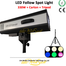 Litewinsune Mini Follow Spot Light LED 330W Stage Performance Theater Show Wedding Party Focus
