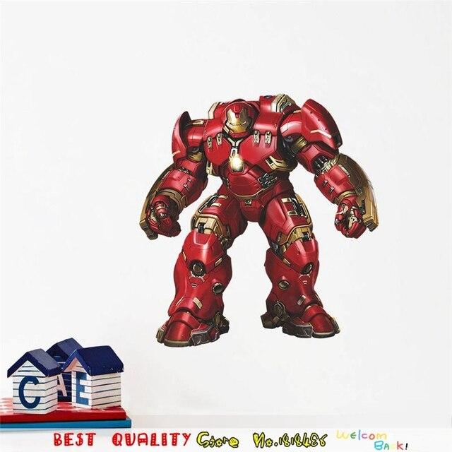 Große Iron Man Wandaufkleber Superheros Wandtattoos Kinderzimmer Dekoration  Avengers Tapete 3d Handwerk Movie Poster Home Decor