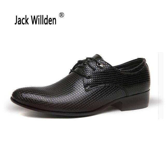9e0a348e4b7 Jack Willden más tamaño 46 Oficina hombres Zapatos de vestir italiano boda  hombre Oxfords traje Zapatos