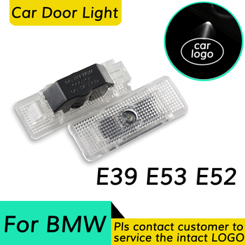 2X Led Car Door Light For BMW E39 e52 e53 X5 Z8 M Performance Logo Welcome Laser Projector Light Accessories Decorative Lamp image